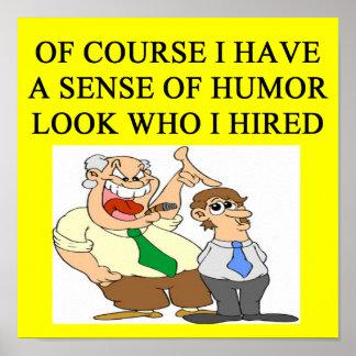 boss humor poster