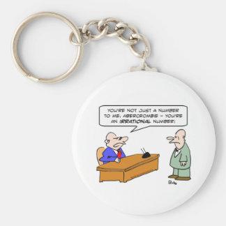 boss irrational number businessman basic round button keychain
