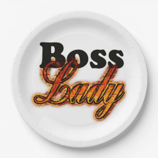 Boss Lady 9 Inch Paper Plate