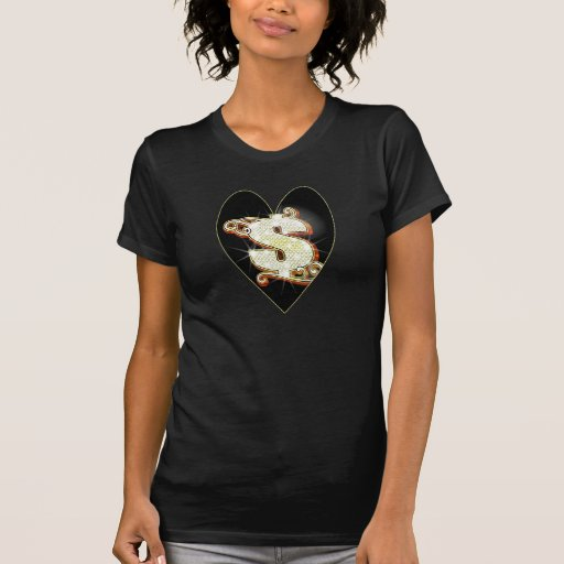 Boss Lady Bling Money Symbol Heart T-Shirt
