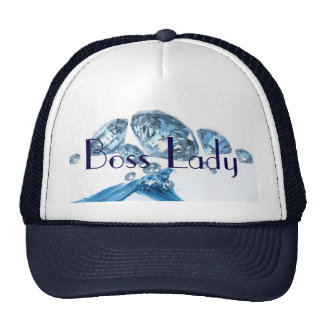 Boss Lady Blue Diamonds Trucker Hat