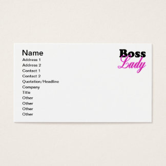Boss Lady Business Card