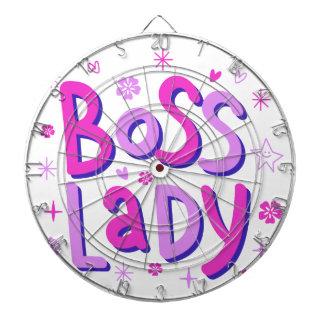 Boss lady dart board