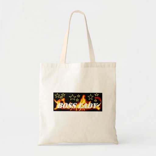 Boss Lady Flames Star Tote Tote Bag