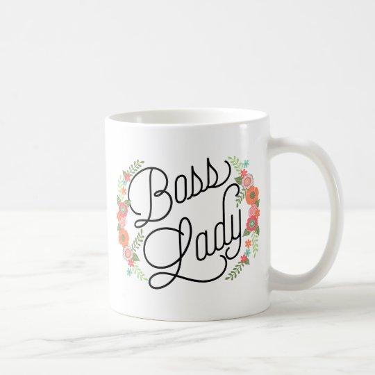 Boss Lady Floral Coffee Mug