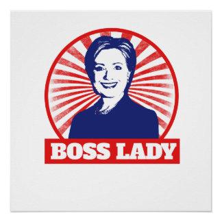Boss Lady Hillary Clinton 2016 Poster