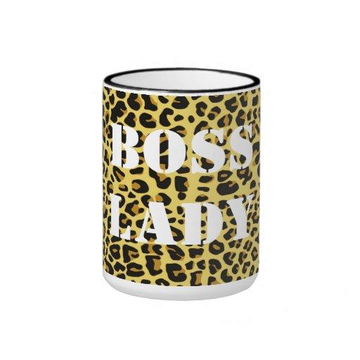 Boss Lady Leopard Print Mug