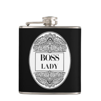 Boss Lady- Positive Quote´s Hip Flask