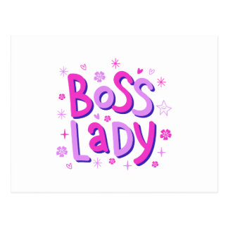 Boss lady postcard