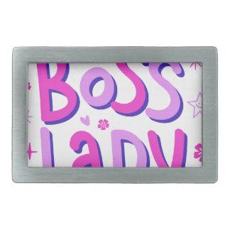 Boss lady rectangular belt buckles