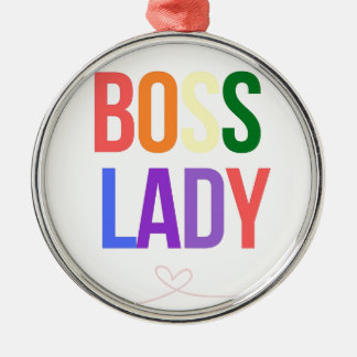 BOSS LADY Silver-Colored ROUND ORNAMENT