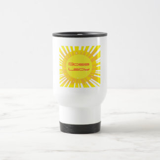 Boss Lady Sunshine Sparkle Travel Mug