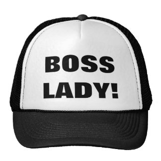 BOSS LADY! TRUCKER HAT