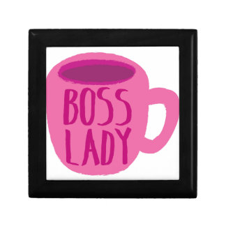 BOSS lady with a pink coffee cup Gift Box