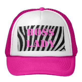 Boss Lady Zebra Print Hat
