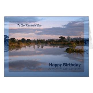 Boss, Lake at dawn Birthday card