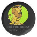 Boss Lion Proud Guy Plate