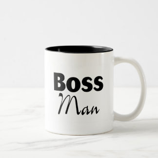 Boss Man Two-Tone Coffee Mug