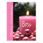 boss Merry Christmas card Postcard