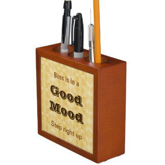 Boss' Mood desk organizer