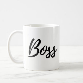 Boss Mug, Simple, Modern script Coffee Mug