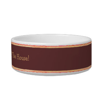 Boss Of The House - Brown Borders Cat Food Bowls