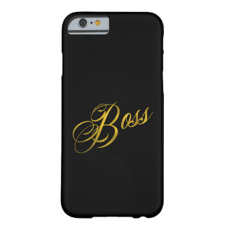 Boss Quote Faux Gold Foil Metallic Strength Barely There iPhone 6 Case