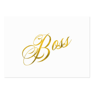 Boss Quote Faux Gold Foil Metallic Strength Large Business Card