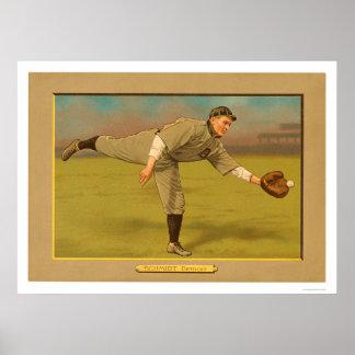 Boss Schmidt Tigers Baseball 1911 Poster