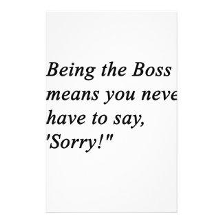 Boss Stationery Paper
