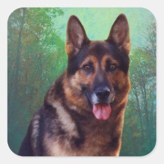 Boss the German Shepherd Stickers