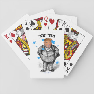 """BOSS"" TWEET, POTUS TRUMP PLAYING CARDS"