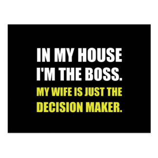 Boss Wife Decision Maker Postcard