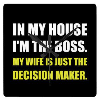 Boss Wife Decision Maker Wallclock