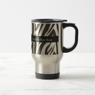 "BOSS:  ""World's Best Boss"" Zebra Stripes Gift Mug"