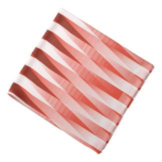 Bossa Nova Red and White Design Bandana