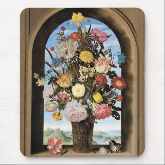 Bosschaert Bouquet in an Arched Window Mousepad