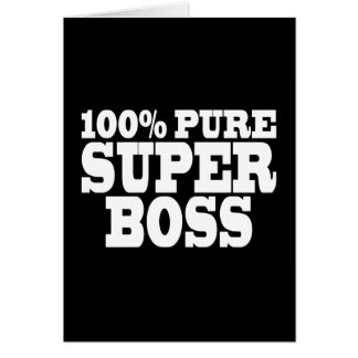 Bosses Birthday Parties : 100% Pure Super Boss Cards
