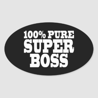 Bosses Birthday Parties : 100% Pure Super Boss Oval Sticker