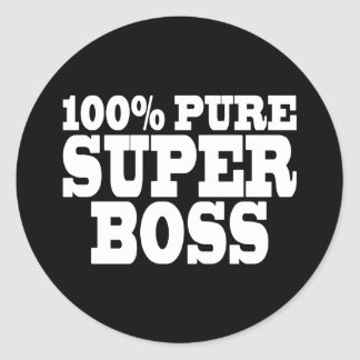 Bosses Birthday Parties : 100% Pure Super Boss Round Sticker