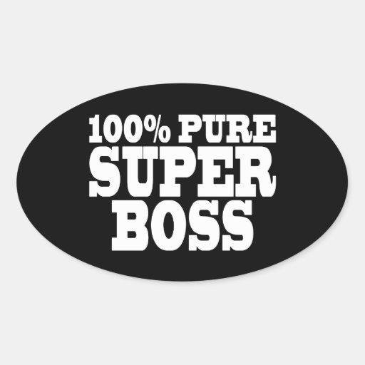 Bosses Birthday Parties : 100% Pure Super Boss Sticker