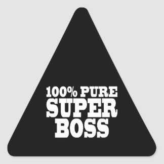 Bosses Birthday Parties : 100% Pure Super Boss Triangle Sticker