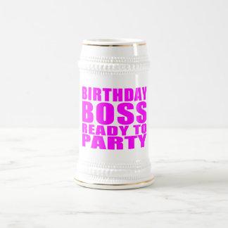 Bosses Birthdays : Birthday Boss Ready to Party Coffee Mug