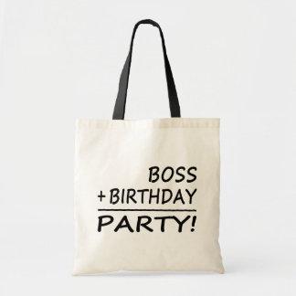 Bosses Birthdays Boss + Birthday Party Canvas Bag