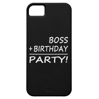 Bosses Birthdays Boss + Birthday Party iPhone 5 Cases