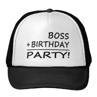 Bosses Birthdays : Boss + Birthday = Party Hats