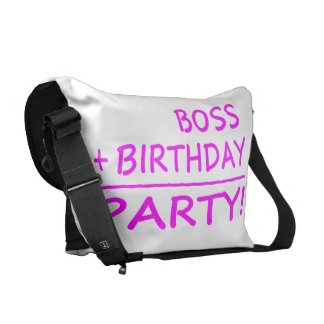 Bosses Birthdays Boss + Birthday Party Messenger Bag