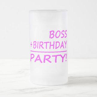 Bosses Birthdays : Boss + Birthday = Party Frosted Beer Mug