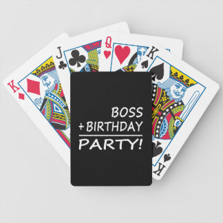 Bosses Birthdays Boss + Birthday Party Poker Deck