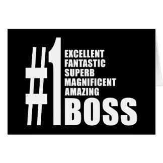 Bosses Birthdays Gifts : Number One Boss Greeting Card